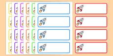 Editable Drawer - Peg - Name Labels (Rockets)