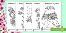 Springtime Mindfulness Colouring Pages Spanish