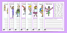 Character Description Writing Frame to Support Teaching on Charlie and the Chocolate Factory