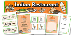 Indian Restaurant Role Play Pack