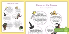 EYFS Home Learning Challenge Sheet Reception FS2 to Support Teaching on Room on the Broom