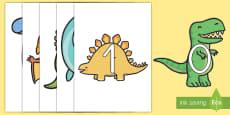 Números 0-20 de exposición en dinosaurios