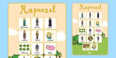 Rapunzel Vocabulary Poster
