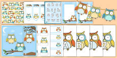 Superb Owl Themed Classroom Display and Stationery Pack