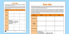 River Nile Information Activity Sheet