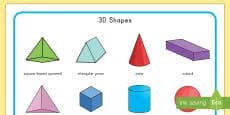 * NEW * 3D Shape Word Mat