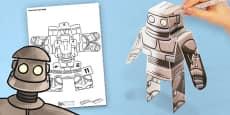 3D Iron Man Paper Model Activity