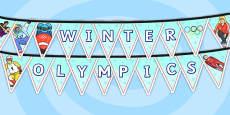 Winter Olympics Bunting