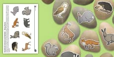 Woodland Animals and Habitats Story Stone Image Cut-Outs