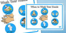 When to Wash Your Hands Display Poster