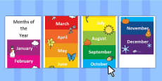 Editable Months of the Year Large Rolling Banner