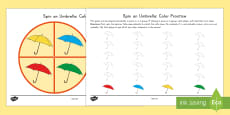 Spin an Umbrella: Color Practice Game