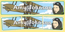 Amy Johnson Display Banner