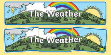The Weather Display Banner