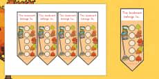 Australia - Autumn Sticker Reward Bookmarks 15mm