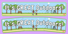It's Great Outdoors Display Banner
