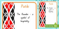Patiki Pattern A4 Display Poster