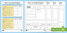 Write Your Own Manifesto Differentiated Writing Frame Pack