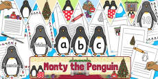 Monty The Penguin Display Pack