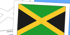 Jamaica Flag Display Poster