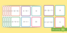 Associative Property of Addition Matching Cards