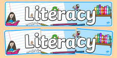 EYFS Literacy Display Banner