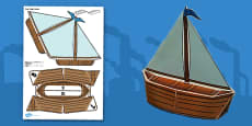 Victorian Toys Boat Paper Model
