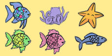 Stick Puppets to Support Teaching on The Rainbow Fish