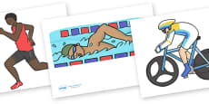 The Olympics Editable Images Triathlon