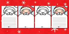 Santa's Beard Letter Writing Template