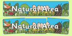 Natural Area Display Banner