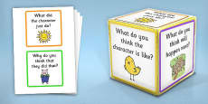 Giant Foam Dice Reading Prompt Squares and Questions