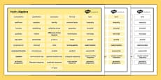 KS4 Maths Word Mat Algebra