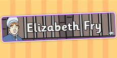 Elizabeth Fry Display Banner