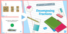 * NEW * Decomposing Fractions Interactive PowerPoint