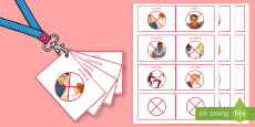Lanyard Sized Visual Support Cards