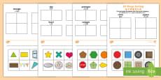 2D Shape Sorting Activity Sheet English/Mandarin Chinese