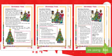 KS1 Christmas Trees Differentiated Reading Comprehension Activity