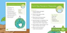 Earth Day Handprint Keepsake Craft Instructions