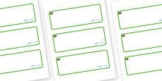 Conker Themed Editable Drawer-Peg-Name Labels (Blank)
