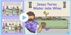 Jesus Turns Water into Wine (Wedding at Cana) Bible PowerPoint Story