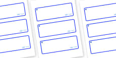 Sapphire Themed Editable Drawer-Peg-Name Labels (Blank)