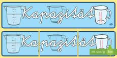 Kapazität Banner für die Klassenraumgestaltung