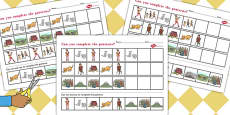 The Pied Piper Complete the Pattern Activity Sheets
