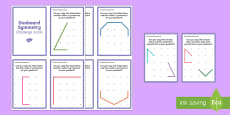 Geoboard Symmetry Challenge Cards