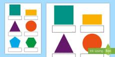 2D Shapes Self-Registration Labels