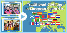 European Countries Traditional Clothing Display Photo PowerPoint