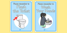 'Don't Forget' Display Signs For the Toilet