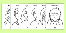 Our Emotions Colouring Sheets Spanish / Español