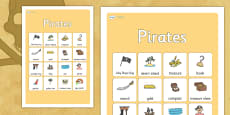 Pirates Vocabulary Poster